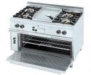 Frytop cooker 4 burners + oven