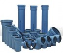 Evacuation pipes and fittings for POLIphon-proofed DBLUE