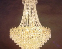 Empire Lamp with Crystal Lead