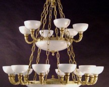 Bronze lamp Alabaster White