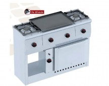 Gas stove with iron 1200x450x900
