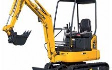 Miniexcavators. Minitrack loaders for construction
